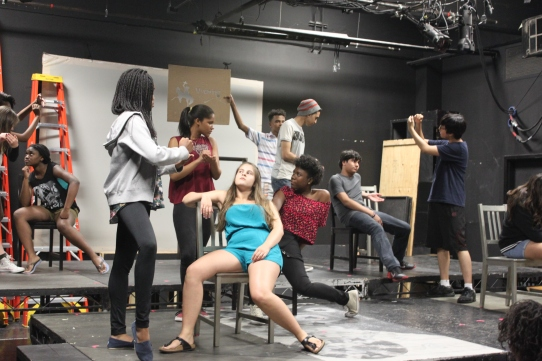 The Laramie Project rehearsal