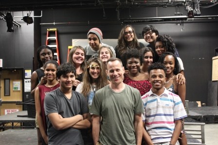 Stephen Belber with The Laramie Project cast