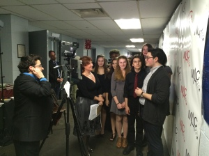 Being interviewed by Cabaret Scenes